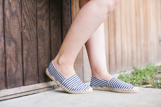 Striped Espadrilles for Summer
