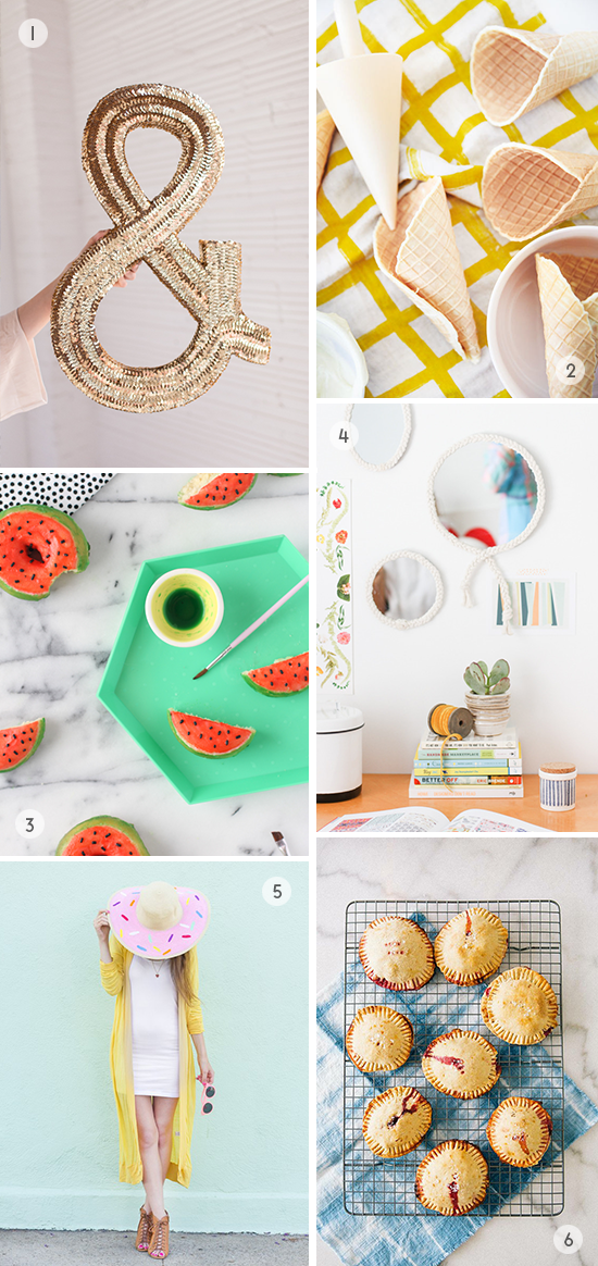 Weekend DIYs to Try // sequin ampersand and more