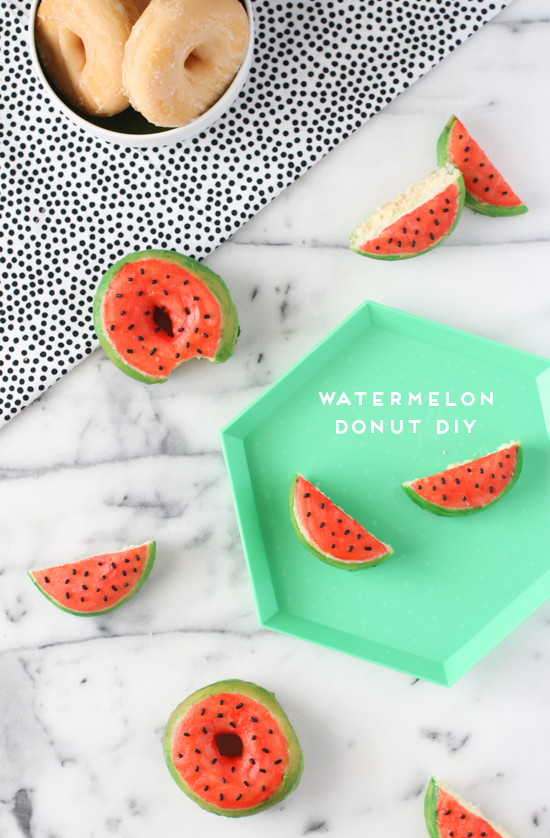 DIY Watermelon Donuts