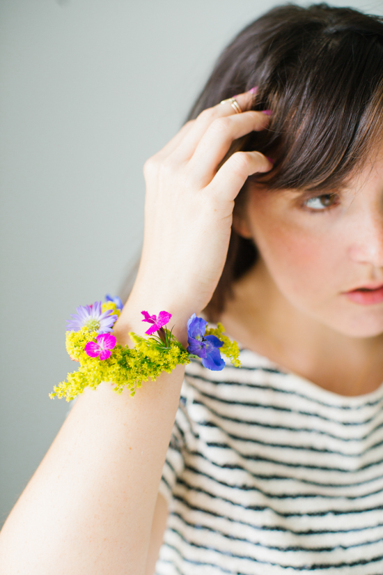 Make a statement with this DIY flower bracelet