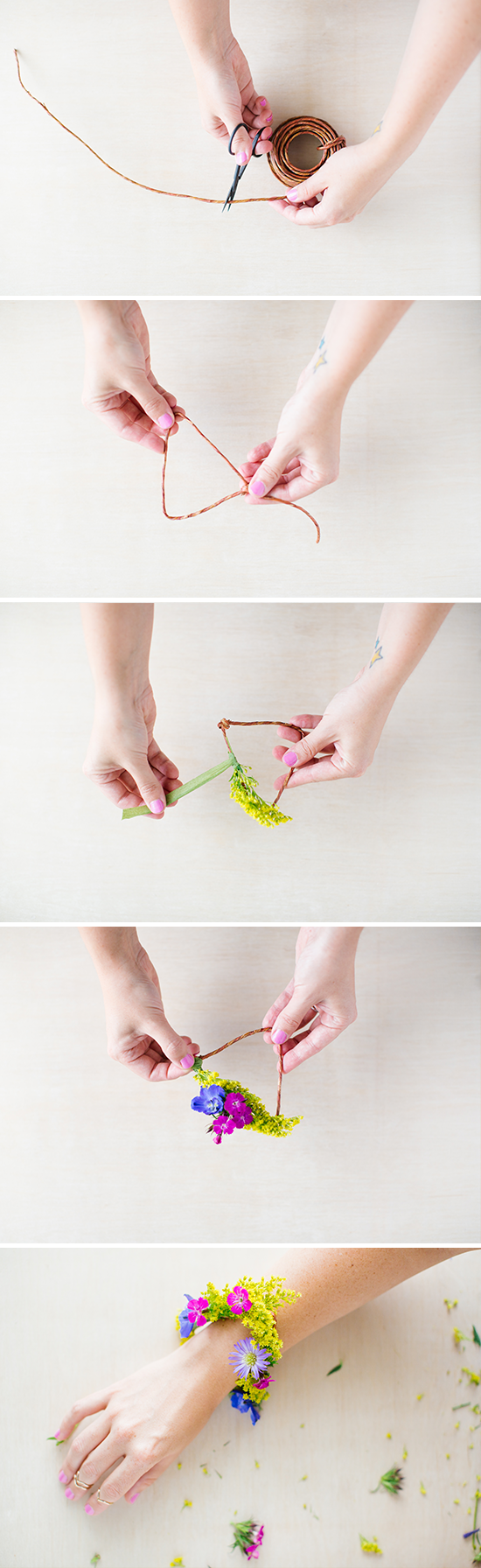 How to Make a DIY Flower Bracelet