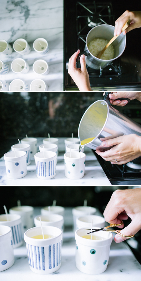 Step by step process for how to make soy candles