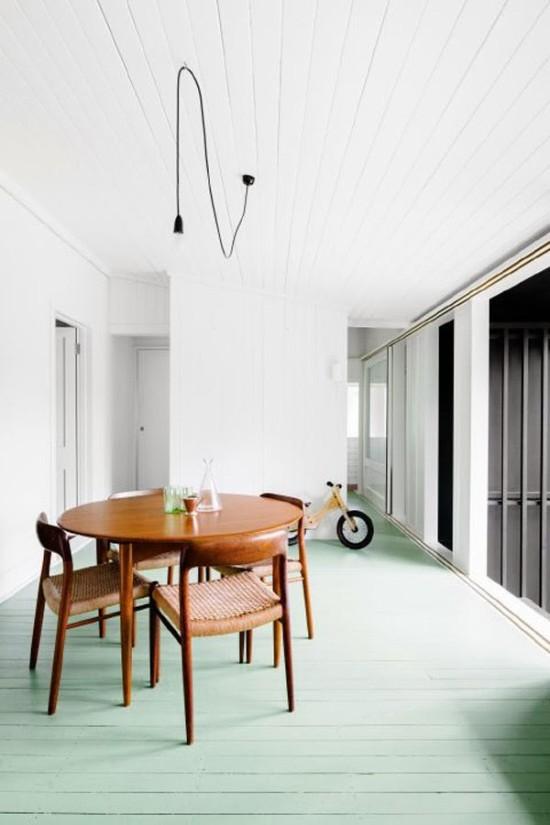 Mint Green Dining Room Floors