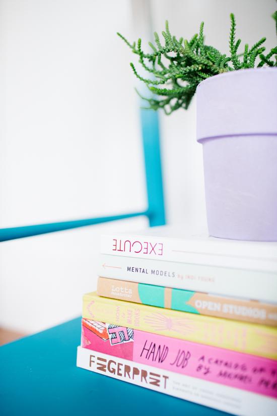 Stack of Colorful Design Books
