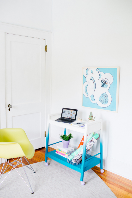 DIY Ombre Rolling Office Makeover