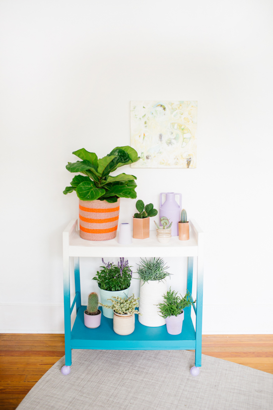 DIY // Rolling Ombre Plant Stand