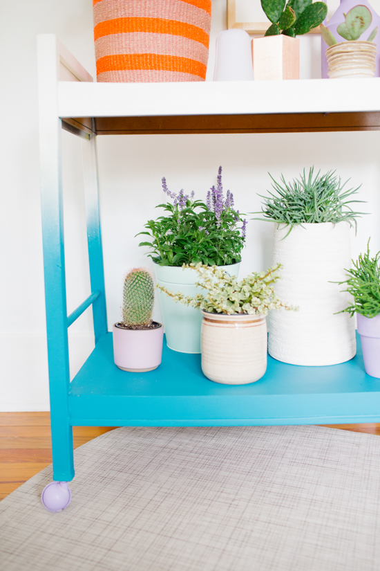 Ombre Plant Stand DIY