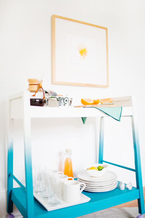 Breakfast Bar Cart Makeover