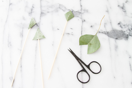 DIY Cake Toppers made of Eucalyptus Leaves