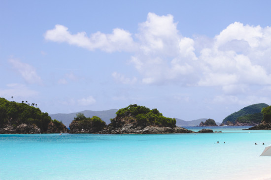 Turquoise Waters in Trunk Bay, St John