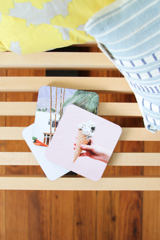Summer photo coasters