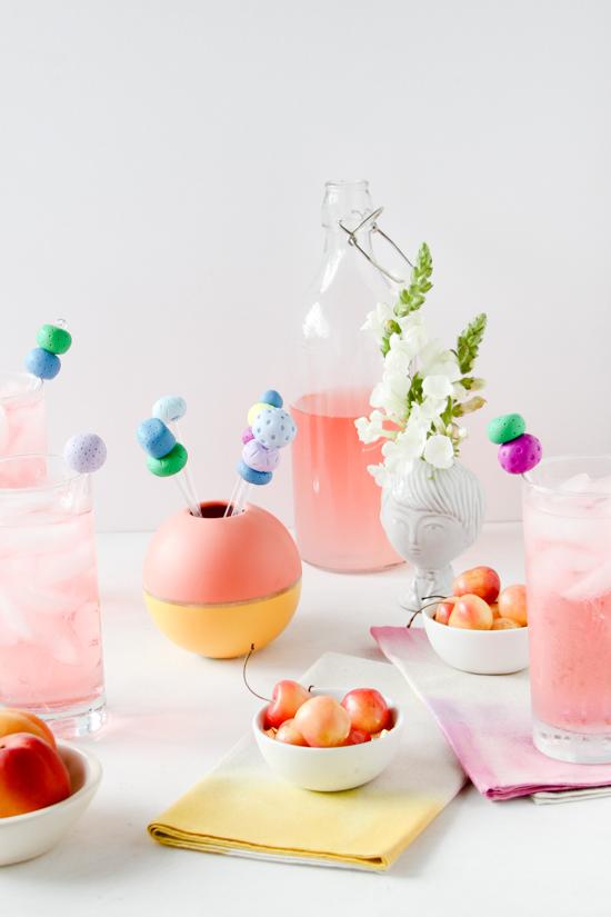 Colorful DIY Drink Stirrers