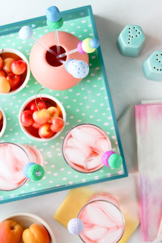 Summer Entertaining DIYs // Serving Tray + Drink Stirrers Tutorial