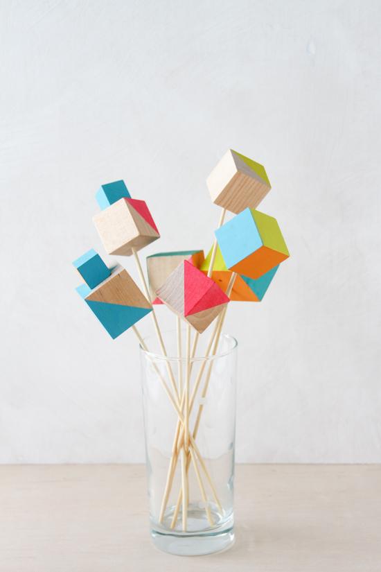 Colorful Mod Drink Stirrers DIY