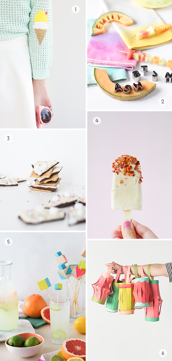 Weekend DIYs to Try // Ice Cream Elbow Patches, S'mores Bark, and More