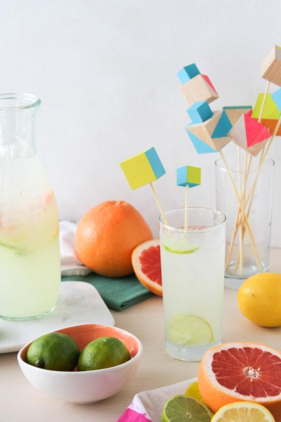 Summer Entertaining Idea // Modern Drink Stirrers DIY