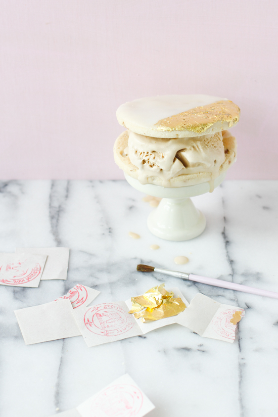 Gilded Cookie Ice Cream Sandwiches
