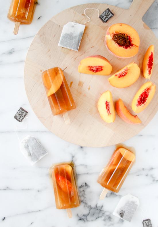Peach Iced Tea Popsicles