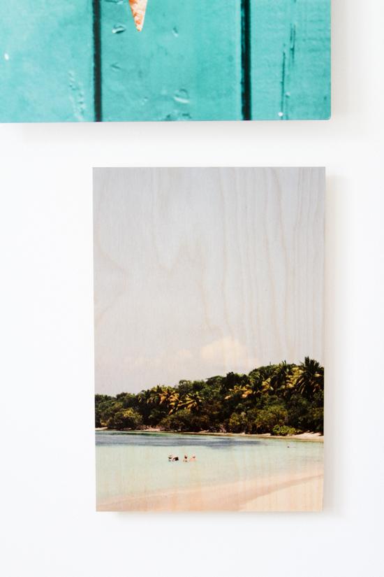 Wood beach print