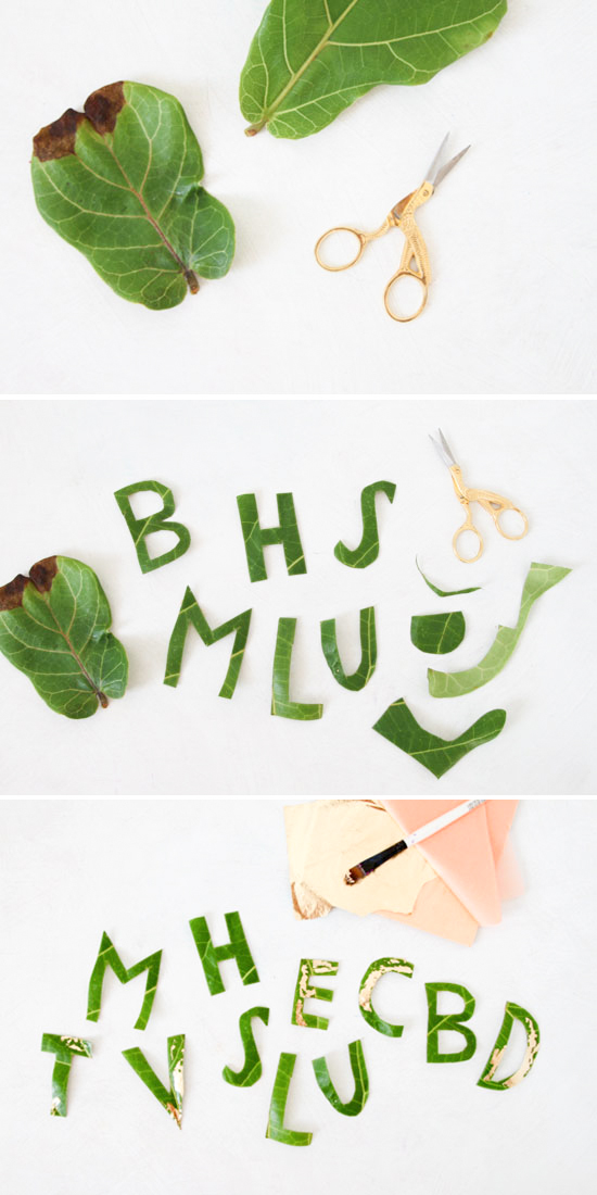 How to Make DIY Leaf Letters for Entertaining