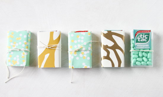 Wrapped Favors using Decorative Papers