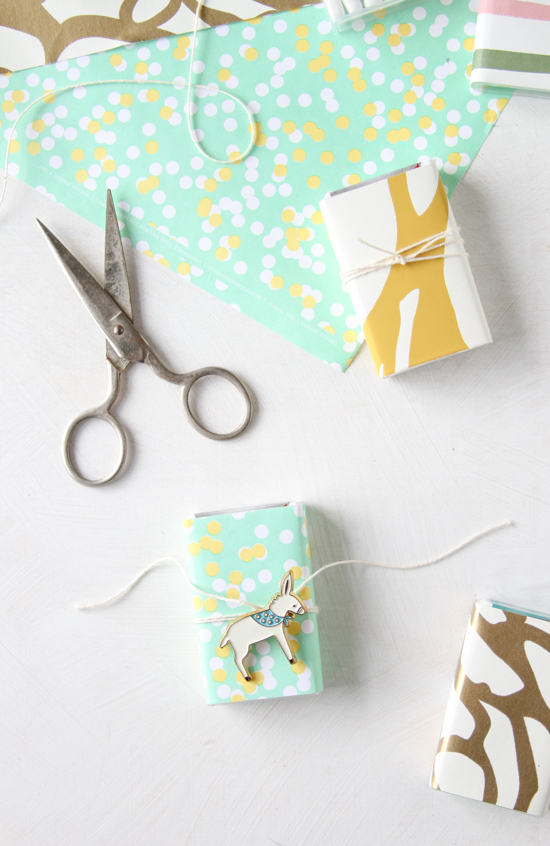 DIY Wrapped Party Favors