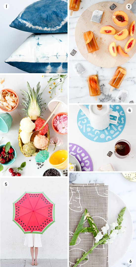 Weekend Project Ideas // Summer Popsicles, Watermelon Umbrella, and More