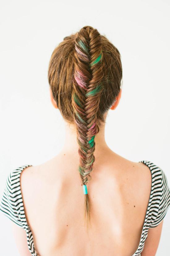 Hair Chalk for Brunettes