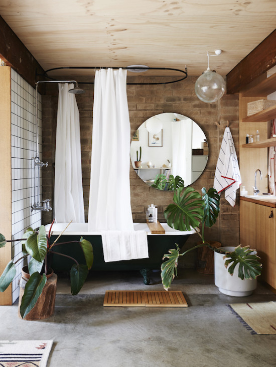 Cool spa vibe in this bathroom