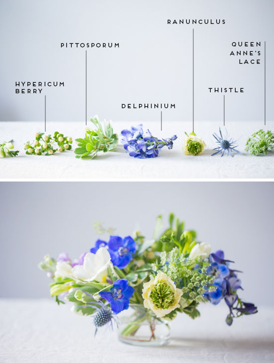 Anatomy of a Freeform Bouquet / Centerpiece