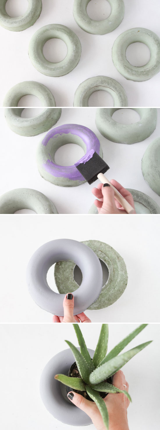 How to make concrete planters in minutes