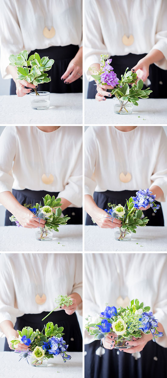 Flower Power: How to Create a Freeform Floral Centerpiece Without a Flower Frog