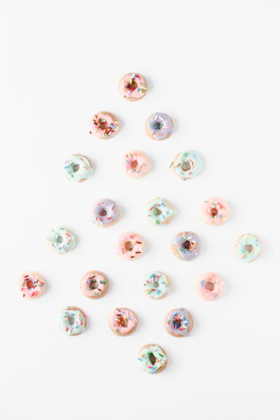 Make mini donut chocolate candies