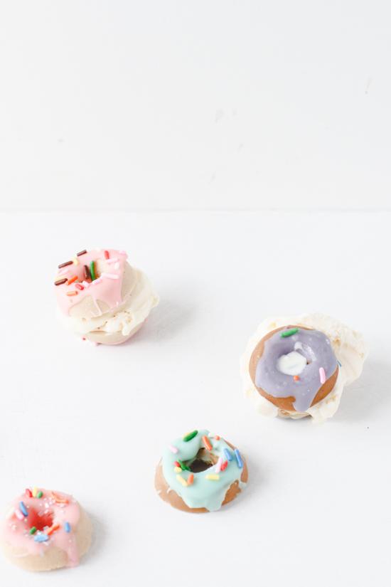 Mini Donut Candy Ice Cream Sandwiches