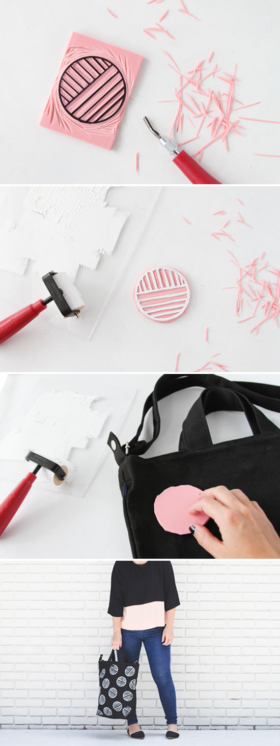 How To Make a Custom Stamped Tote Bag