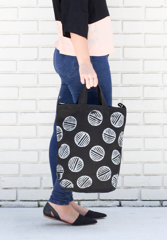 DIY // Linoleum Block Stamped Tote Bag