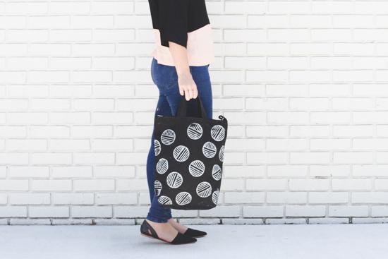 Paper & Stitch + Darby Smart tote bag collaboration