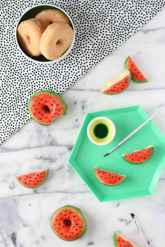 Behind the Scenes / finished watermelon donut DIY