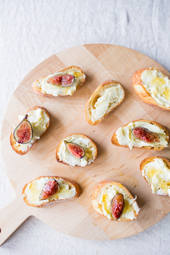 Goat Cheese + Fig Crostinis