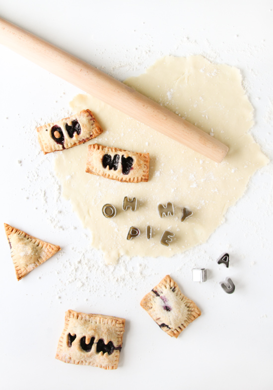 5 Ingredient Blueberry Hand Pies with Message Cut Outs