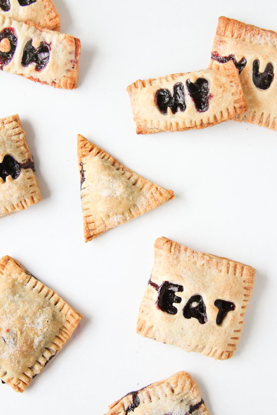 Mini Message Blueberry Hand Pies Recipe