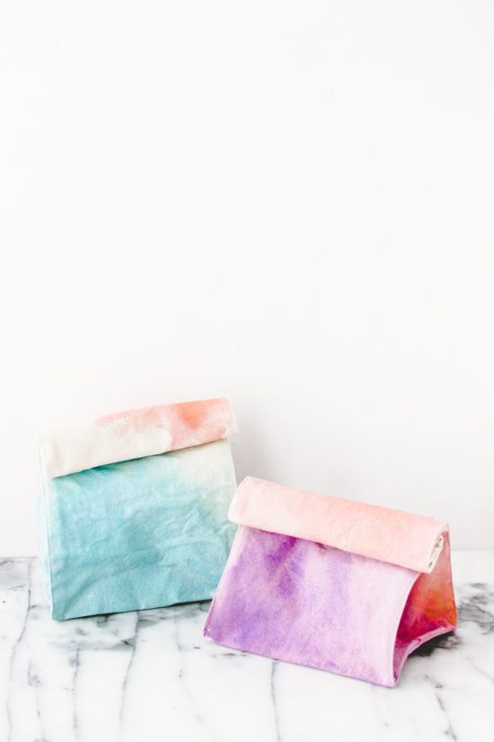 How To Make Watercolor Lunch Bags