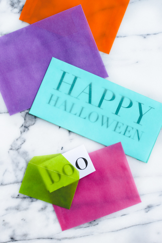 Halloween Snail Mail with Free Printable + Translucent Envelopes