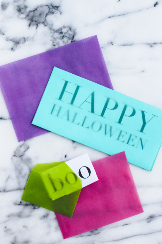 DIY Halloween Snail Mail Printable