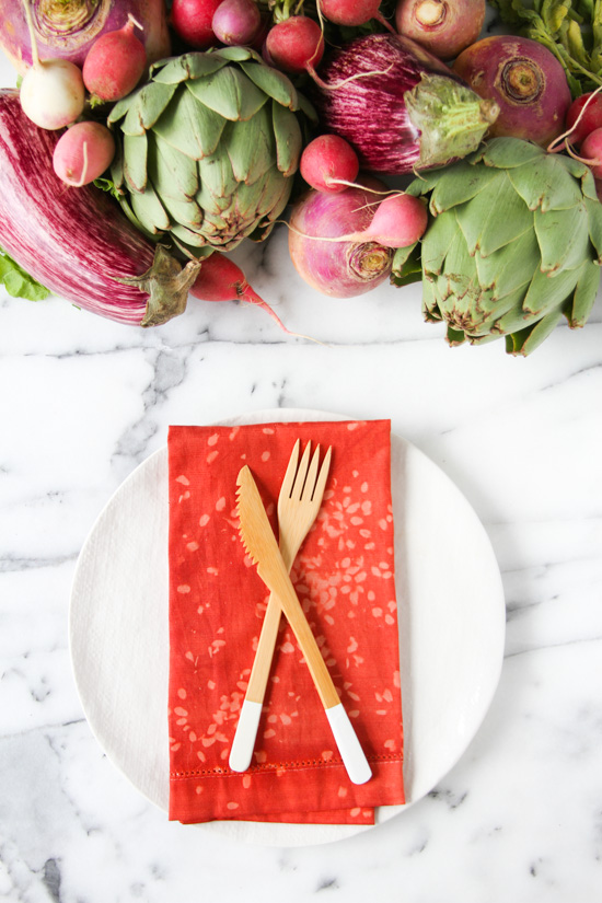 DIY Dotted Napkins for Fall Entertaining