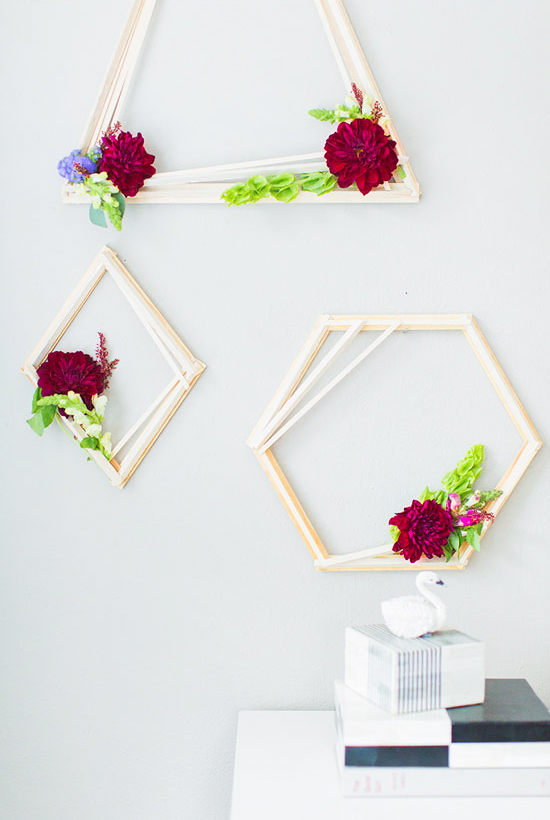 DIY // Make these geometric wreaths for the holidays