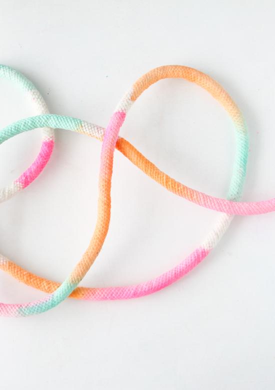 DIY // Dip Dyed Upholstery Cording