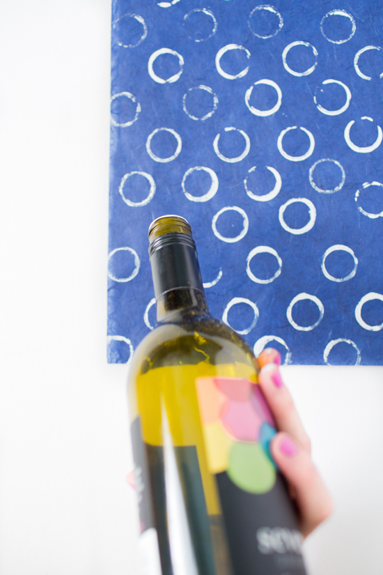 DIY Holiday Gift Wrap // Using Wine Bottle