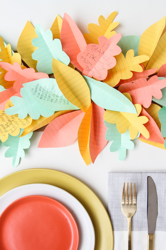 Thanksgiving DIY // Easy Table Runner Made of Paper