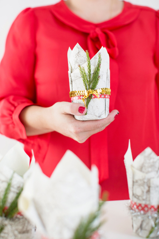 DIY Holiday Candle Favors